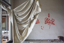 A Torn Curtain Flails In The W...