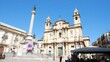 Palermo, Italy, view of the Saint Domenico square and church