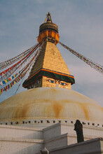 A Man Praying In Boudhanath, KTM, Nepal.