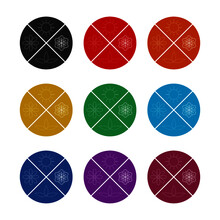 Four Season Icon Sign, Color Set
