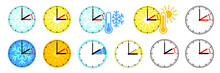 Clocks Are Adjusted Forward One Hour Near The Start Of Spring And Are Adjusted Backward In The Autumn. DST Daylight Saving Time. Switch Summer Time Or Winter Time And Return To Standard Time. 1 Hour.