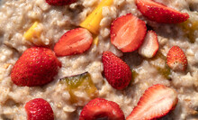 Oatmeal With Strawberries, Pea...