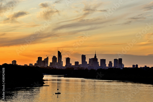 Warsaw, Poland - view of the city. #380424618
