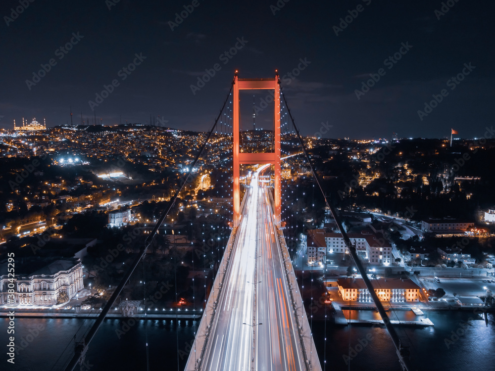Fototapeta bosphorus bridge in the night