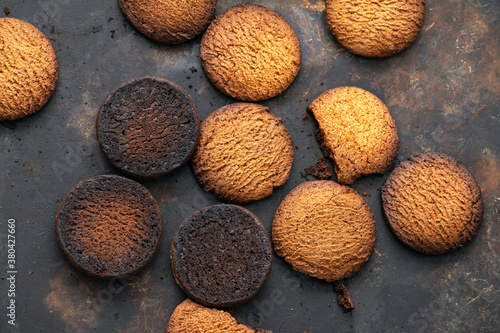 Fototapeta Burnt cookies