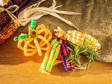 Indian Corn And Pumpkins Made ...