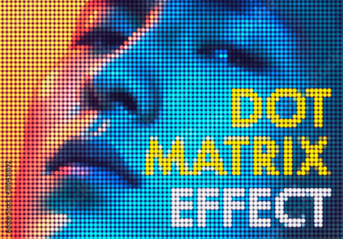 Dot Matrix Photo Effect
