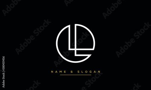 Fototapeta LL, L Alphabet Letters Logo monogram Template obraz