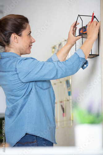 Fototapeta decorator female doing interior design obraz