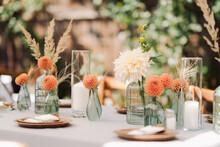 Table Setup In A Yard Wedding