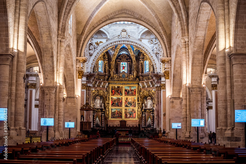 interior of a beautiful church and arch Wallpaper Mural