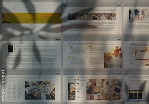 Fototapeta Clean Business Plan Presentation obraz