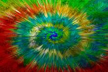 Abstrait Explosion Multi Coule...