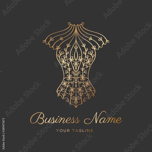 Obraz na płótnie Logo for a lingerie boutique, wedding Studio, or fashion designer's salon
