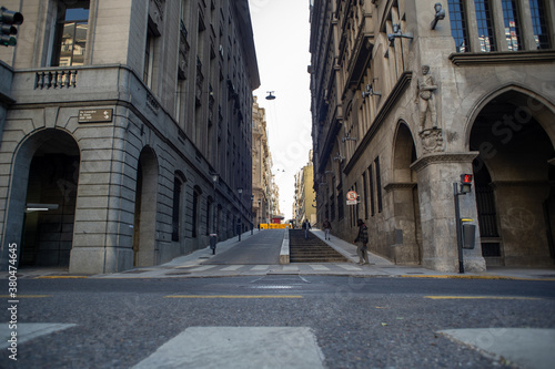 Fotomural Leandro Alem Avenue in the city of Buenos Aires, perspective from below a steep
