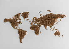 World Map Made Of Tobacco