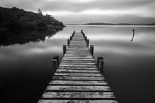 View Of A Pier At Loch Lomond...