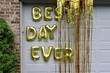 """canvas print picture - """"Best day ever"""" balloons on the garage door"""