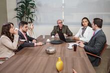 Latin People In Business Meeti...