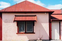 Old Stone Building With Corrugated Tin Roof In Australia
