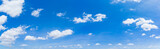 Fototapeta Na sufit - Panorama blue sky and clouds with daylight natural background.