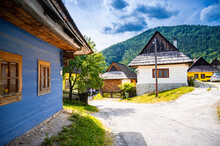 Colorful Old Wooden Houses In ...