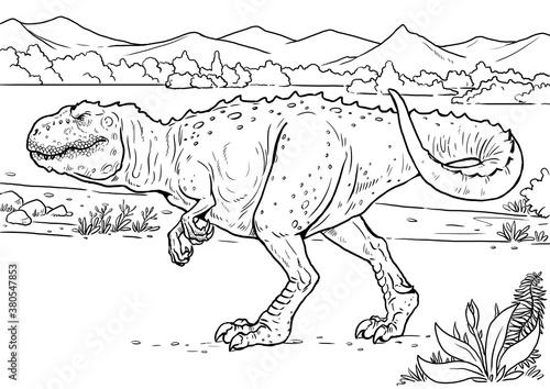 Fotomural Carnivorous dinosaur - giganotosaurus
