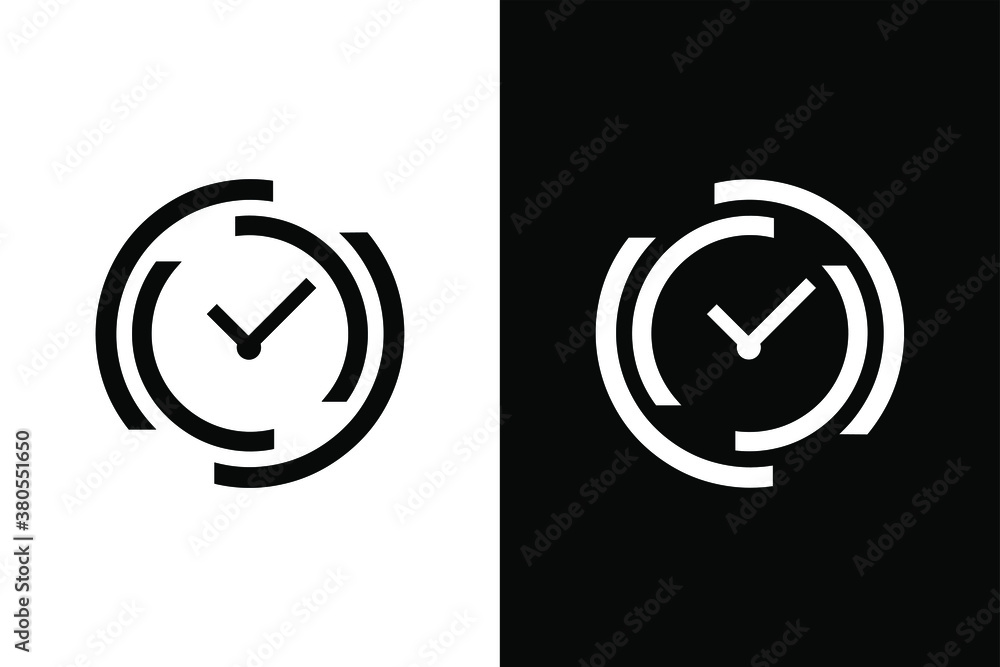 Fototapeta Clock sign for design concept. Very suitable in various business purposes, also for icon, logo symbol and many more.