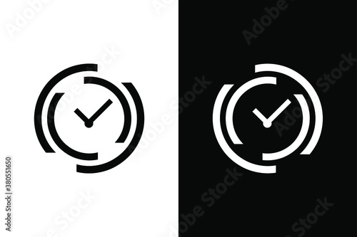 Fototapeta Clock sign for design concept. Very suitable in various business purposes, also for icon, logo symbol and many more. obraz