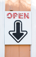 """Open"""""""" Sign"""