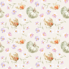 Seamless Watercolor Patterns. ...