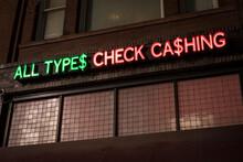 Check Cashing Neon Sign