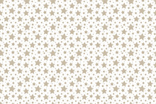 Christmas Texture With Cute Stars. Xmas Wallpaper. Vector