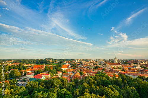 Vilnius is the capital of Lithuania, famous for its Baroque buildings Canvas