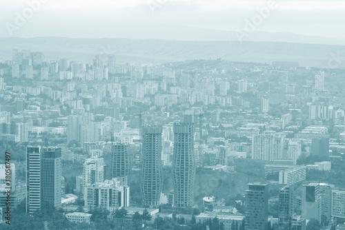 Monochrome view of a capital city centre Fotobehang