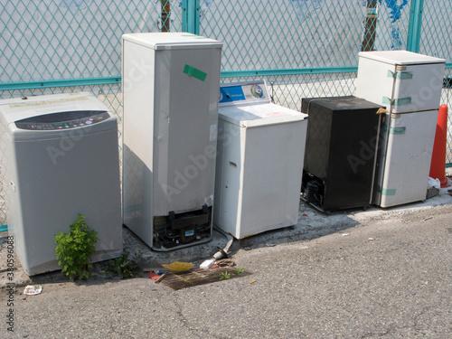 Cuadros en Lienzo 不法投棄された洗濯機