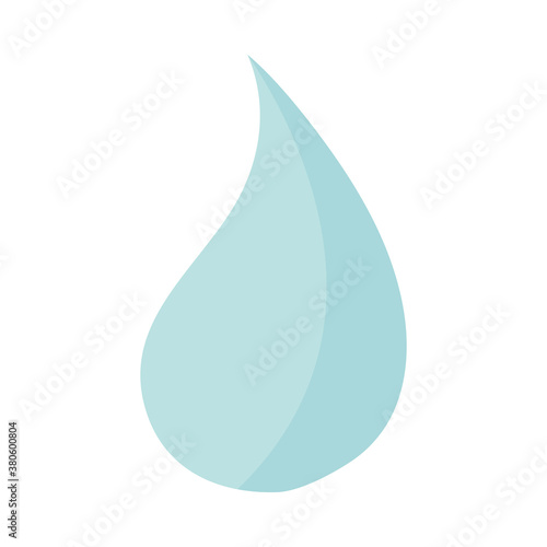 Photo water drop liquid purity flat icon style