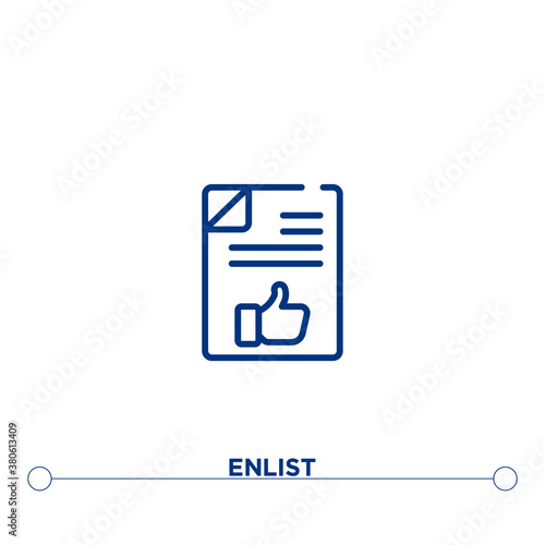 Photo enlist outline vector icon