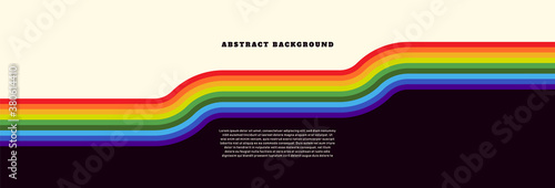 Obraz Simple abstract background with spectrum design in retro style. Vector illustration. - fototapety do salonu