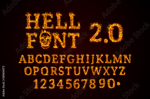 Tablou Canvas Hell Font 2