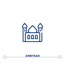 Amritsar Outline Vector Icon. ...
