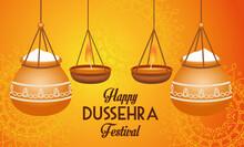 Happy Dussehra Festival Poster...