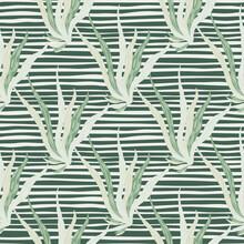 Light Grey Seaweeds Shapes Sea...