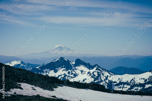 Mt Adams on a clear summer day from Mt Rainier national park