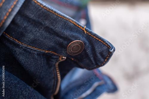 Fotografia, Obraz Close-up of denim jean trouser