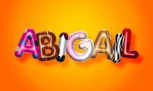 Abigail Female Name, Colorful ...