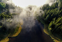 Aerial Photography Nearby Lake...