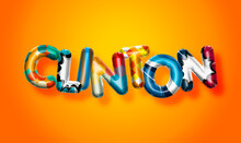 Clinton Male Name, Colorful Le...