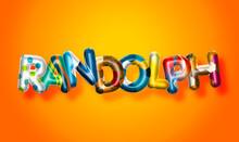 Randolph Male Name, Colorful L...