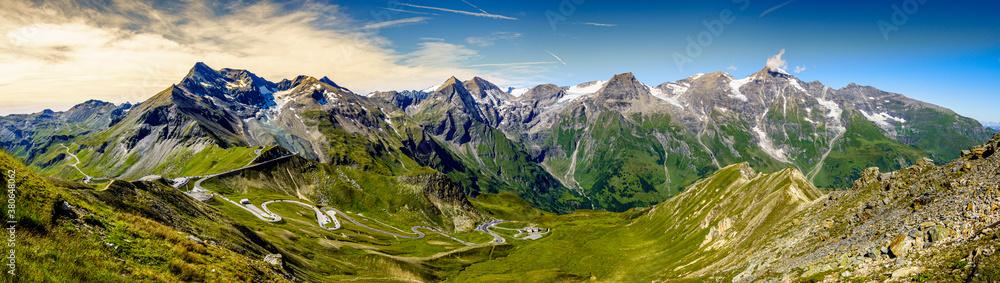 Fototapeta landscape at the Grossglockner mountain in austria